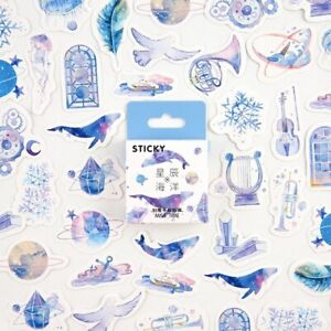 Space Whale Bullet Journal Decorative Washi Scrapbooking Stickers Stick 46pcs