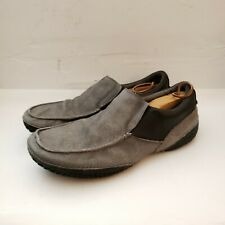 Tsubo Casual Slip On Loafers Gray Canvas/Leather. Mens 11.