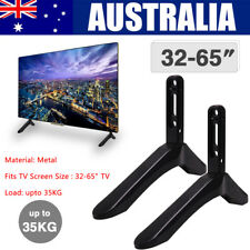 """Universal Table Top TV Pedestal Stand Base fit 32-65"""" For Sharp Samsung TCL Sony"""