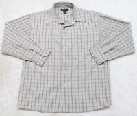 Great Northwest Beige Dress Shirt Striped Pocket Large Men's Man Top Button Up