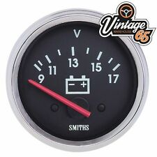 Smiths Classic Car 52mm Voltmeter Gauge Chrome Bezel Race Rally Kit Customcar
