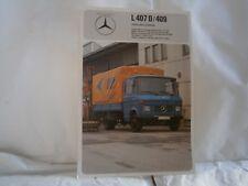 Catalogue voiture pub auto prospectus Camion Mercedes Benz L407D/409 plateau