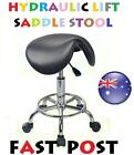 Stool Hydraulic GAS Lift Bar Chair Salon Massage Spa Nail White Black Saddle