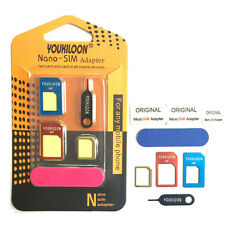 8in1 Nano Micro Standard SIM Card Cutters Adapter Converter Kit for All mobile