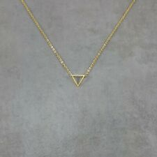 Triangle Gold Plated Necklace in Gift Box Geometric Shape Shapes Trendy Angular