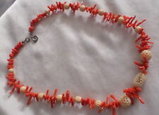 NATURAL VINTAGE  RED BRANCH CORAL NECKLACE