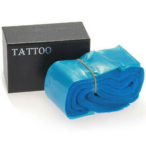 100pcs/box Pro Disposable Plastic Blue Tattoo Clip Cord Sleeves Cover Bags
