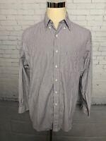 Brooks Brothers Mens Blue White Striped Dress Shirt 16.5 - 34-35