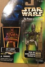Star Wars Power of the Force ASP-7 Droid W/Spaceport Supply Rods New In Box