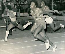 1974 AP Wire Photo sprinter Herb Washington wins Wanamaker Millrose Games