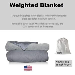 - Grey Heavy Cool Blanket for Adults RENPHO Weighted Blanket 100/% Cotton /& Glass Beads 60 x 80 inches,20 lbs