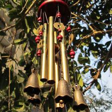 NEU Windspiel 4 Klangröhren Klangspiel Natur Windharfe Haus Garten Deko DHL