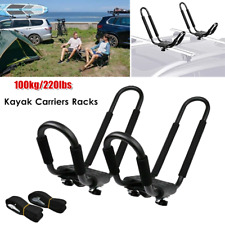 Universal Kayak Canoe Carriers Luggage Holder Car Racks Roof J-Bar Rack 220LBS