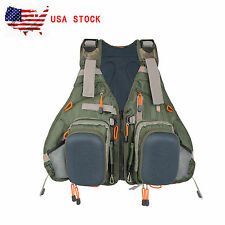 Muiti-pocket Fly Fishing Vest Backpack Bag Adjustable Size Mesh Fly Vest Pack