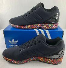 Adidas Men's ZX Flux ONIX Black Prism Floral Sneaker Shoes Size 8.5