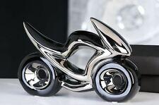 36935 Motocicleta Raza negro plata Altura 15,5cm Ancho 23cm Hecho De Cerámica