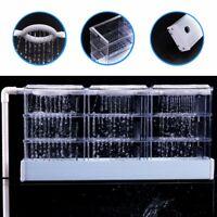 External Filter Trickle Rain Drop Upper Aquarium Fish Tank Water Boxes Clear US
