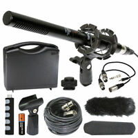 "Vidpro XM-55 11"" Condenser Shotgun Video DSLR Broadcast 13 Piece Microphone Kit"
