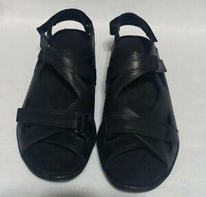 Barefoot Freedom Orthotic Black Sandals.  Women's Size 9W.  Adjustable Straps.