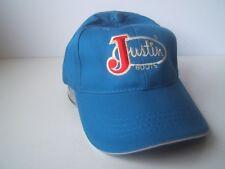 Justin Boots Quarter Horse Congress Hat Blue Hook Loop Baseball Cap