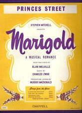 "Alan Melville ""MARIGOLD"" Charles Zwar / Jeremy Brett 1959 London Sheet Music"