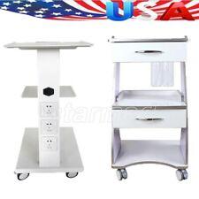 3 Shelves Dental Trolley Built-in Socket Tool Cart Mobile Instrument Cart Metal