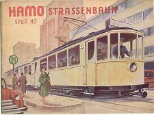 catalogo HAMO 1957  STRASSENBAHN Spur HO Herbst        D     aa