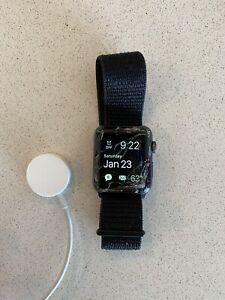 Apple Watch Series 3 42mm Space Gray Aluminum Case Black Sport Loop (GPS +...