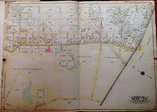 ORIG 1915 MASPETH LUTHERAN & MT. OLIVET CEMETERY P.S. 71 QUEENS NY ATLAS MAP