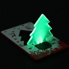 Portátil Verde Regalo de luz LED de Navidad Árbol plegable de tarjeta de Navidad