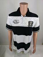 Polo Ralph Lauren Skull Boathouse Stripe Rugby Shirt Sz M