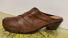 """NUTURE LEATHER WOMEN'S MULE SHOES SIZE 8 1/2-M, COLOR BROWN """"Excellent"""""""