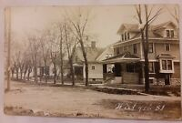 Vintage 1920's Photo Postcard Homes Houses West 4th St SALISBURY Maryland MD