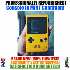 *NEW GLASS SCREEN* Nintendo Game Boy Pocket GBP Yellow System MINT NEW