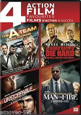 THE A-TEAM + UNSTOPPABLE + A GOOD DAY TO DIE HARD + MAN ON FIRE *DVD SET*