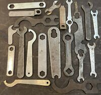 Vintage Stamped Steel Specialty Open End Wrenches Stamped Steel Wrench Assorted