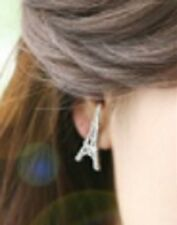 Vintage Style Cute Silver Tone Eiffel Tower Paris Stud Earrings Ear Rings ER08
