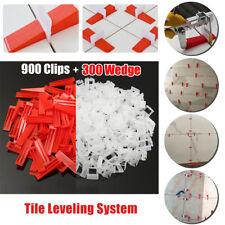 1200 Tile Wall Leveling System 900 Clips+300 Wedges Tile Leveler Spacer Tool US