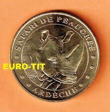 A  SAISIR  MEDAILLE TOURISTIQUE  MONNAIE DE PARIS    PEAUGRES LE RHINOCEROS 2006