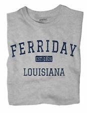 Ferriday Louisiana Oval Bumper Sticker or Helmet Sticker D3914
