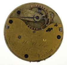 WILLIAM WELLS LONDON ENGLISH LEVER GOING BARREL POCKET WATCH MOVEMENT Z291