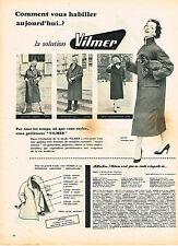 PUBLICITE ADVERTISING 015  1956  VILMER  2 vetements de pluie impermébles