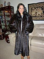 $9K EVANS FUR SALON ROBINSON'S MINK FULL LENGTH SWING FUR COAT SAGA XL/16