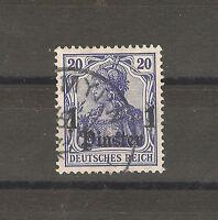 Deutsche Post in der Türkei Briefmarken 1905 1 Piaster auf 20 Pfennig Mi. 38