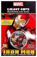 2017 Fiji Marvel Light-Ups Iron Man Silver Plt Specimen SKU49763