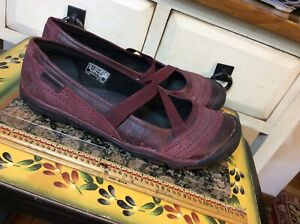 Keen Mary Jane Style Slip On Shoes Women's 9.5 Maroon Red