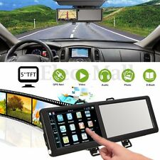 5'' TFT 8GB Bluetooth Car GPS Navigation SAT NAV FM Rearview Mirror Touch Screen