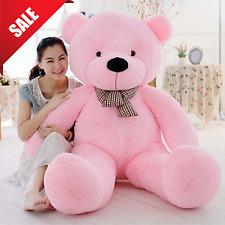 "Giant Plush Teddy Bear Stuffed Animal Soft Toy Girls Valentines Day Gift 47"""