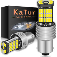 2 x Ampoule 45 LED BA15S 1156 P21W XENON VOITURE Clignotant Feux Recul DRL Blanc