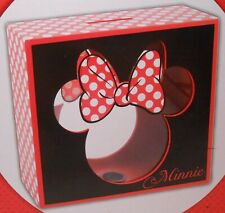 Bank Wood DISNEY MINNIE MOUSE Coin Holder Piggy Bank